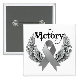 Victory Wings - Brain Cancer Button