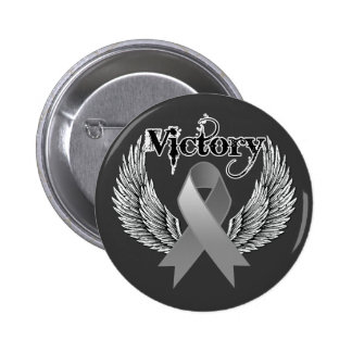 Victory Wings - Brain Cancer Buttons