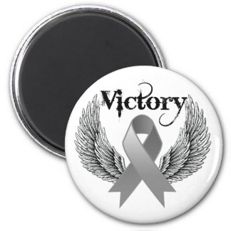 Victory Wings - Brain Cancer Fridge Magnets