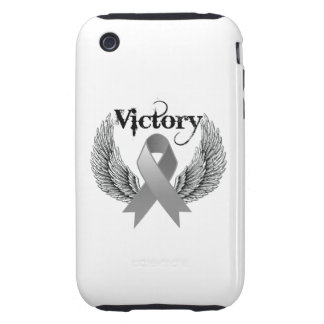 Victory Wings - Brain Cancer iPhone 3 Tough Cases