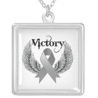 Victory Wings - Brain Cancer Personalized Necklace