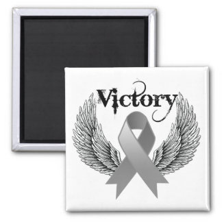 Victory Wings - Brain Cancer Refrigerator Magnet