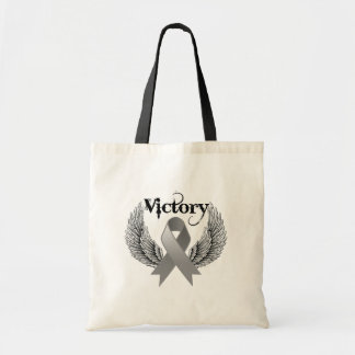 Victory Wings - Brain Cancer Tote Bags