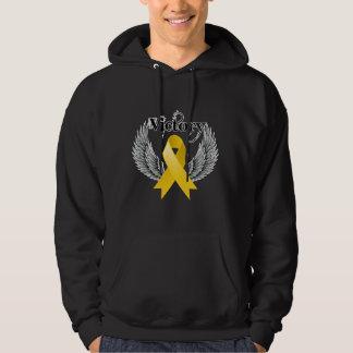 Victory Wings - Childhood Cancer Hooded Sweatshirt