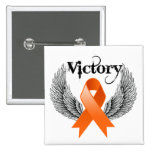 Victory Wings - Leukemia Button