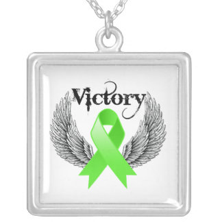 Victory Wings - Non-Hodgins Lymphoma Square Pendant Necklace