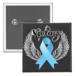Victory Wings - Prostate Cancer 2 Inch Square Button