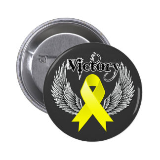 Victory Wings - Testicular Cancer Buttons