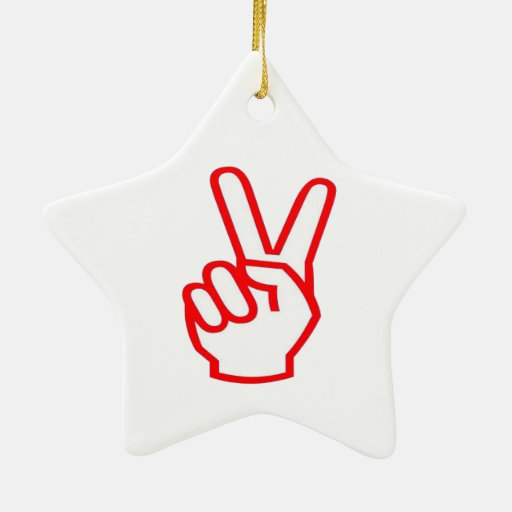 VICTORY  Winner:  Sale Force Motivation Symbol Double-Sided Star Ceramic Christmas Ornament