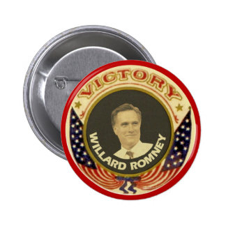 Victory with Willard Romney 2012 Pinback Button