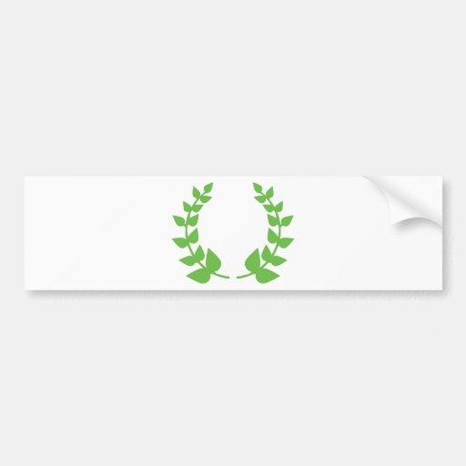 victory wreath bumper stickers