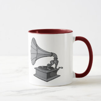 Victrola ~ Vintage Antique Record Player Mug