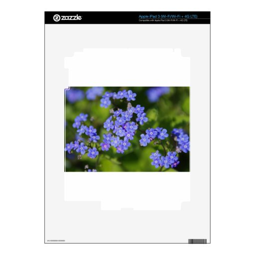 Vid azul del parque del amor de la paz del destino iPad 3 skin
