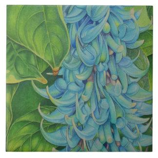Vid de jade azulejo cuadrado grande