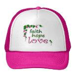 Vid del amor de la esperanza de la fe gorro
