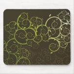 Vid/modelo espirales ornamentales Mousepad moderno Tapete De Ratones
