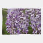 Vid púrpura del Wildflower de las glicinias de la  Toalla