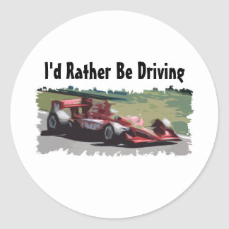 vI'd Rather Be Driving Race Car Sticker