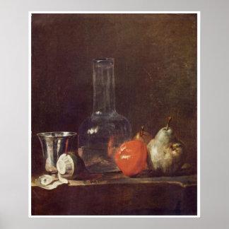 vida 1750-Still con el poster de cristal del arte