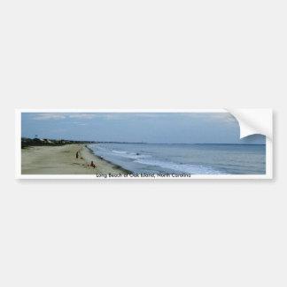 Vida a lo largo de la playa pegatina de parachoque