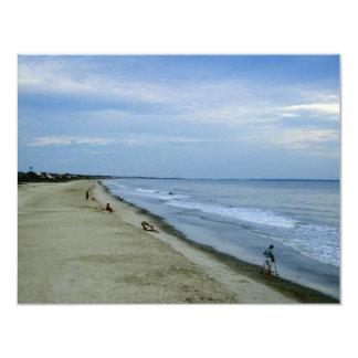"""Vida a lo largo de la playa invitación 4.25"""" x 5.5"""""""
