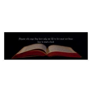 Vida a través de la señal de los libros plantillas de tarjetas personales