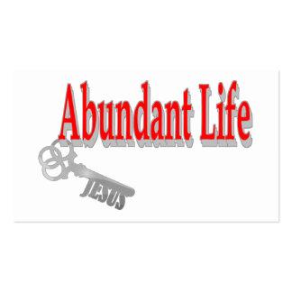 Vida abundante: La llave - tarjeta de la zona del Tarjetas De Visita