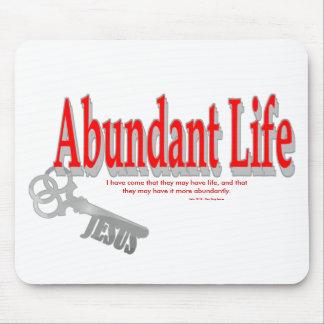 Vida abundante: La llave - v1 (Juan 10: 10) Alfombrillas De Ratones