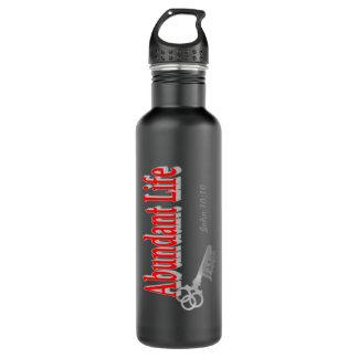 Vida abundante: La llave - v1 (Juan 10: 10) Botella De Agua