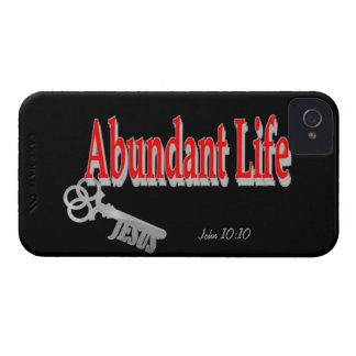 Vida abundante: La llave - v1 (Juan 10: 10) iPhone 4 Funda