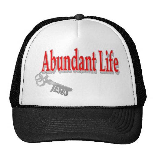 Vida abundante: La llave - v1 (Juan 10: 10) Gorros Bordados