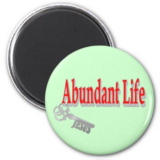 Vida abundante: La llave - v1 (Juan 10: 10) Imán Para Frigorifico