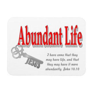 Vida abundante: La llave - v1 (Juan 10: 10) Imán Flexible