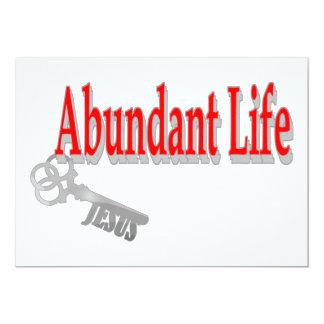 """Vida abundante: La llave - v1 (Juan 10: 10) Invitación 5"""" X 7"""""""