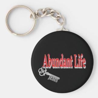 Vida abundante: La llave - v1 (Juan 10: 10) Llaveros