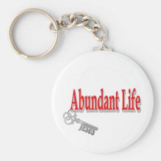 Vida abundante: La llave - v1 (Juan 10: 10) Llavero Redondo Tipo Pin