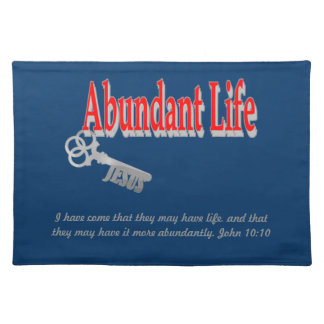 Vida abundante: La llave - v1 (Juan 10: 10) Mantel