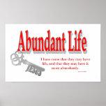 Vida abundante: La llave - v1 (Juan 10: 10) Impresiones