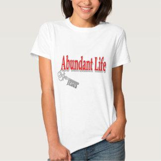 Vida abundante: La llave - v1 (Juan 10: 10) Playera
