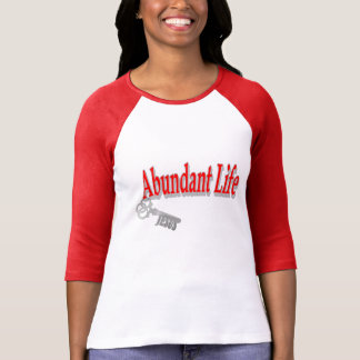Vida abundante: La llave - v1 (Juan 10: 10) Poleras
