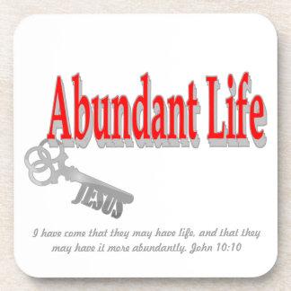 Vida abundante: La llave - v1 (Juan 10: 10) Posavasos