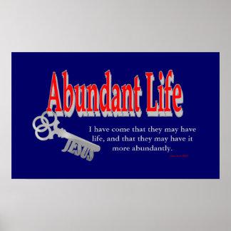 Vida abundante: La llave - v1 (Juan 10: 10) Póster