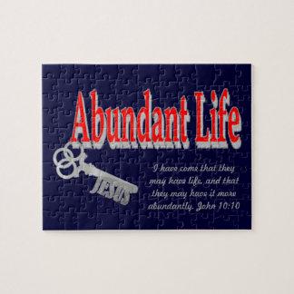Vida abundante: La llave - v1 (Juan 10: 10) Puzzle