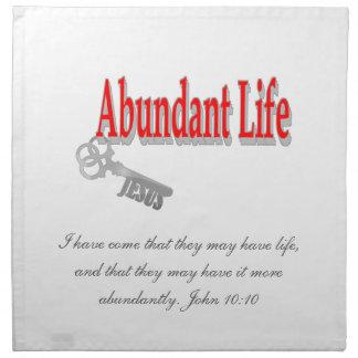 Vida abundante: La llave - v1 (Juan 10: 10) Servilletas De Papel