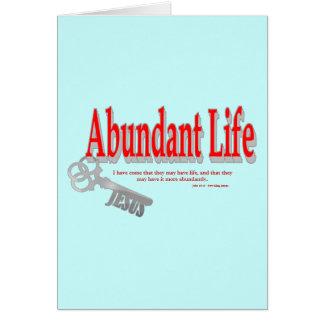 Vida abundante: La llave - v1 (Juan 10: 10) Tarjeta De Felicitación