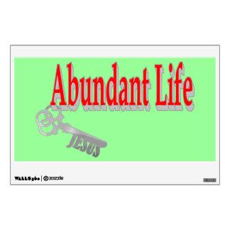Vida abundante: La llave - v1 (Juan 10: 10) Vinilo Decorativo