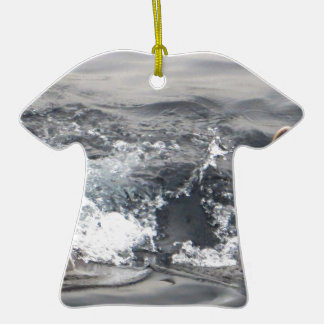 vida acuática de la nadada tropical de la adorno de cerámica en forma de camiseta