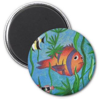 vida acuática imán redondo 5 cm
