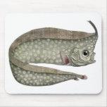Vida acuática marina del vintage, Oarfish con cres Tapetes De Ratón