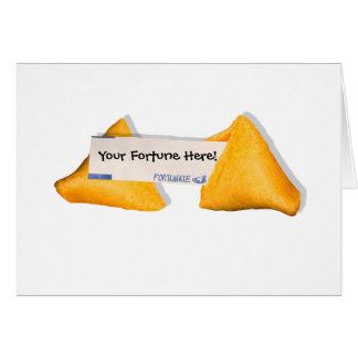 Vida afortunada tarjeta de felicitación